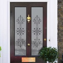 Victorian Etched Glass Frosted Window Film