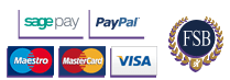 We Accept Payment From Sagepay, Paypal, Visa, Mastercard