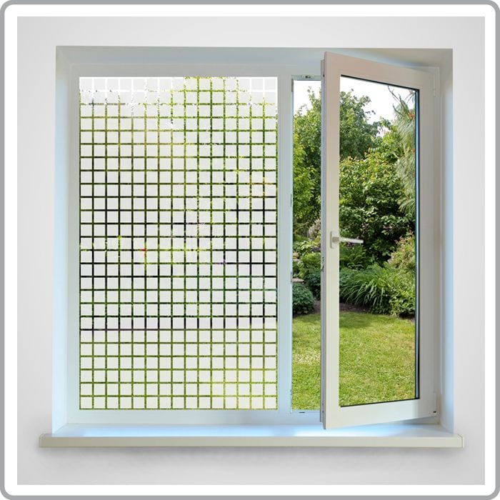 Squares Patterned Window Film Decorative Printed Glass Films