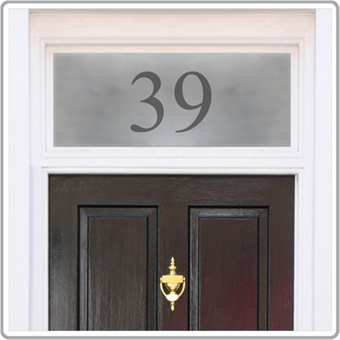 Bespoke Frosted House Name And Door Numbers