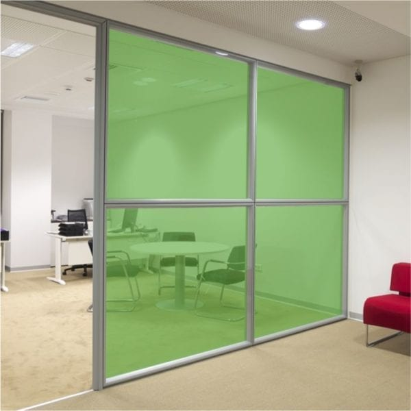 grass green coloured window film