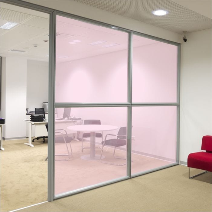 Pink Coloured Window Film Stained Glass Film