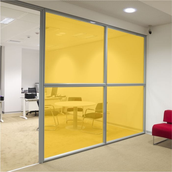 Security Window Film >> Mid Yellow Coloured Window Film - Translucent Glass Film