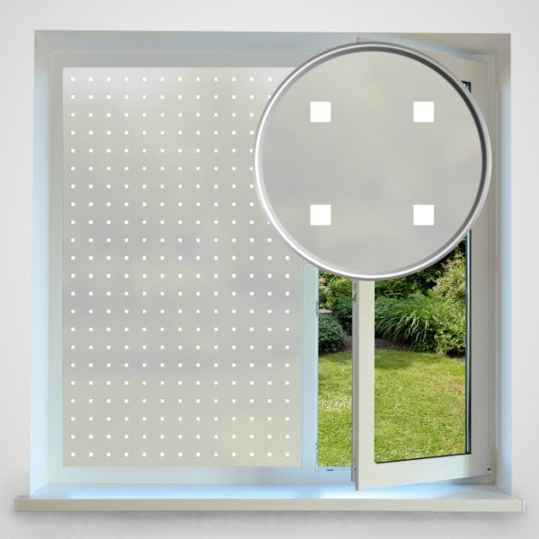 square privacy window film