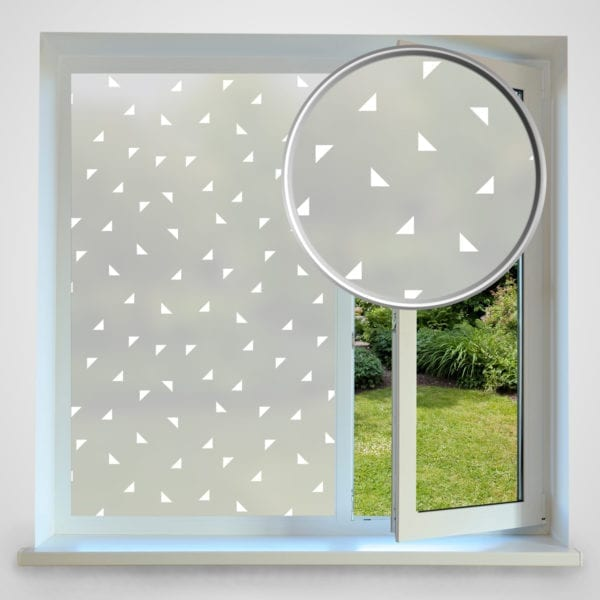 Triangles privacy window film