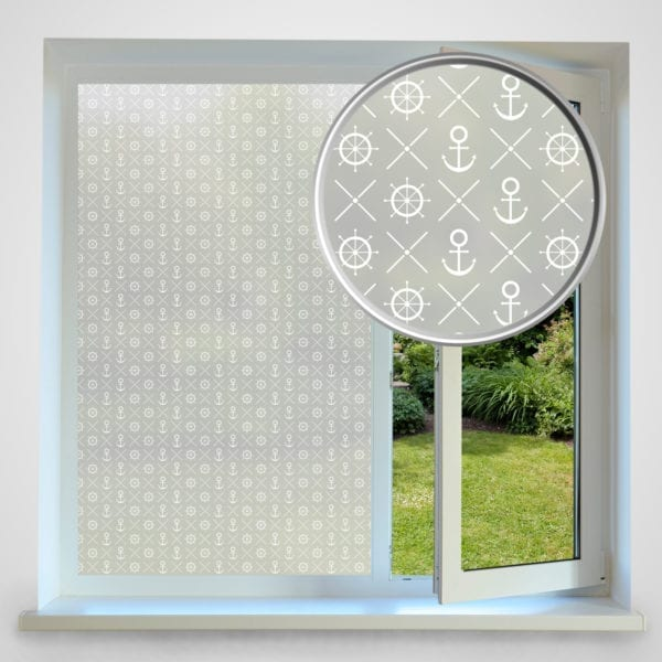 Wheel and Anchor privacy window film