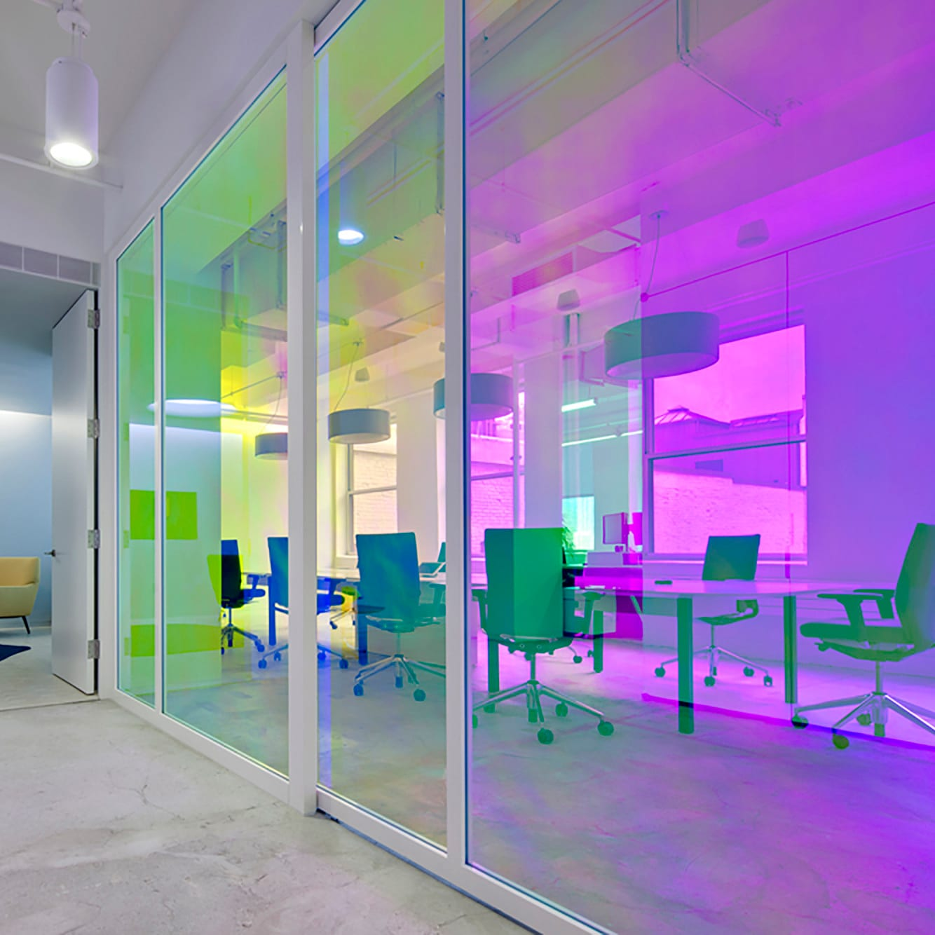 Dichroic Colour Changing Rainbow Window Film